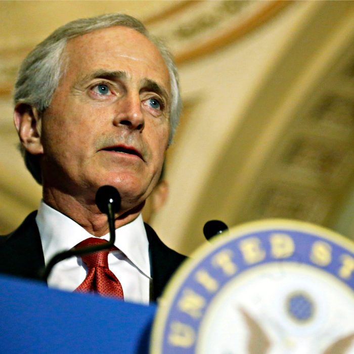 Sen. Bob Corker, R-Tenn., pictured here in March 2015, proposes a taxpayer-funded foundation to eliminate human trafficking. (Photo: Jonathan Ernst /Reuters/Newscom)