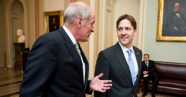 Sen. Ben Sasse, R-Neb., introduced a bill requiring the Department of Health and Human Services to repay $5 billion to the U.S. Treasury or face cuts to its general departmental management fund. Under Obamacare's transitional reinsurance program, the Obama administration is required to repay $5 billion to the Treasury from 2014 to 2016. However, it decided to prioritize $3.5 billion in reinsurance payments to insurance companies. (Photo: Bill Clark/CQ Roll Call/Newscom)