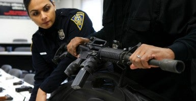 "Federal law could not be more clears—such claims against gun manufacturers ""may not be brought in any Federal or State court."" Period. (Photo: Michelle Mcloughlin/Reuters/Newscom)"