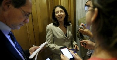 Sen. Marie Cantwell, D-Wash. (Photo: Jonathan Ernst/Reuters/Newscom)