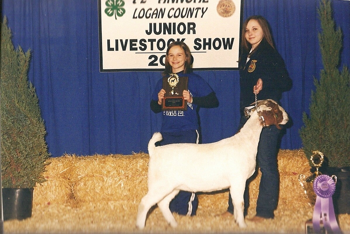 An Our Military Kids grant helped a recipient in Louisiana raise an award-winning goat. (Photo: Linda Davidson/Our Military Kids)
