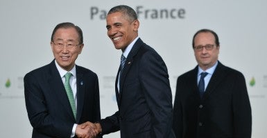 The only reason President Obama is not sending the Paris Climate Agreement to the Senate as a treaty is that he knows the Senate would handily reject it. (Photo: Liewig Christian/Sipa USA/Newscom)