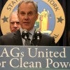 AGs United for Clean Power press conference on March 29 in New York. (Photo: Andrew Schwartz/Newscom)