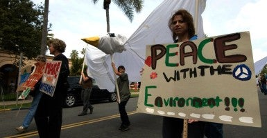 Demonstrators march in the San Diego Earth Day Fair. (Photo: Earl S. Cryer/Zuma Press/Newscom)
