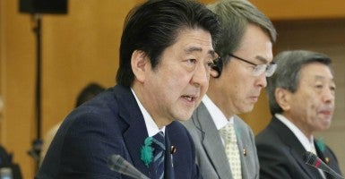 Japanese Prime Minister Shinzo Abe (Photo: Kyodo/Newscom)