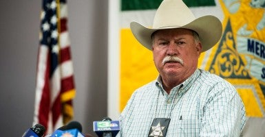 Merced County Sheriff Vern Warnke addresses the media during a news conference at the Merced County Sheriff's Department in Merced, Calif., on, Nov. 5, 2015.(Photo: Andrew Kuhn/Merced Sun-Star/TNS/Newscom)