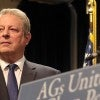 Former Vice President Al Gore at a news conference with state attorneys general. (Photo: Andrew Schwartz/Newscom)