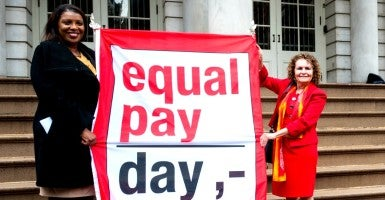 Equal Pay Day is a harmful and misleading ploy to convince women they are victims of discrimination—discrimination that requires government intervention. (Photo: Richard Levine/Newscom)