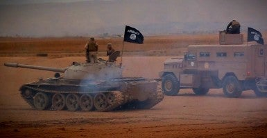 An important part of ISIS's brand is that it is the most ostentatiously brutal of all terror groups. (Photo: Balkis Press / ABACA/Newscom)