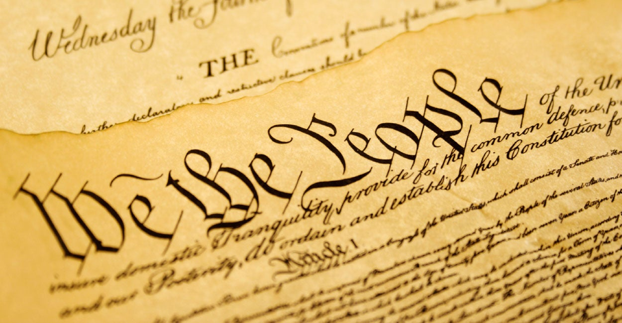 Cover art: The constitution with the words We the People