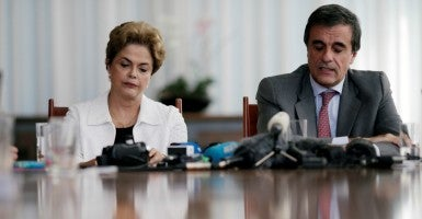 Suspended Brazilian President Dilma Rousseff. (Photo: Eeslei Marcelonio/Reuters/Newscom)