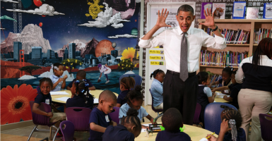 The Obama administration has issued a new bathroom directive that impacts federally funded schools across the country. (Photo: Pete Souza/Zuma Press/Newscom)