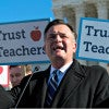 Rep. Luke Messer, R-Ind., here at a rally outside the Supreme Court in January 2016, is the author of a bill to undo the Obama administration's dictation of bathroom policy for public schools. (Photo By Bill Clark/CQ Roll Call/Newscom)