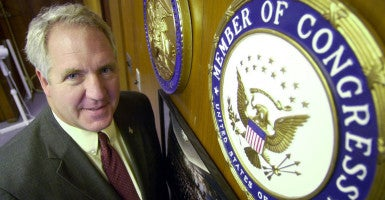 Rep. John Shimkus, R-Ill., says he accidentally voted for an LGBT amendment. (Photo: Steve Nagy/KRT/Newscom)
