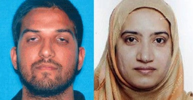 Syed Farook and Tashfeen Malik killed 14 people and injured 22  in an Islamic extremism-inspired terrorist attack on Dec. 2, 2015, in San Bernardino, California. (Photo: FBI/ZUMA Press/Newscom)