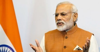 Indian Prime Minister Narendra Modi's visit will highlight the important strides the two countries have made in expanding security and defense cooperation.  (Photo: Salvatore Di Nolfi/EPA/Newscom)