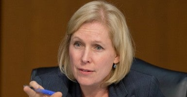 "The JAGs note that there is no ""empirical support"" that demonstrates that removing the commander would—as Gillibrand promises—promote the effective and just disposition or prosecution of cases.  (Photo: Ron Sachs - CNP/Newscom)"