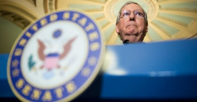 "Senate Majority Leader Mitch McConnell, R-Ky., blames talk radio for the ""notion that somehow a Republican Congress can overcome a Democratic president and eventually bring him to his knees when it's not possible."" (Photo: Bill Clark/CQ Roll Call/Newscom)"
