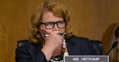 For nearly a year, Senate Banking Committee Chairman Richard Shelby has not moved nominations to the Export-Import Bank's board of directors through his panel. Sen. Heidi Heitkamp, D-N.D., attempted to circumvent the committee by filing for unanimous consent today. (Photo: KEVIN Dietsch/UPI/Newscom)