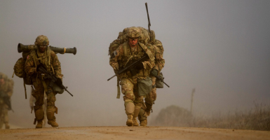 U.S. Army soldiers conduct a 12-mile ruck march. (Photo: U.S. Army/Staff Sgt. Jennifer Bunn)