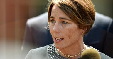 Massachusetts Attorney General Maura Healey's office subpoenaed Exxon Mobil as part of a multi-state effort among liberal attorneys general. (Photo: James Lawler Duggan/Reuters/Newscom)