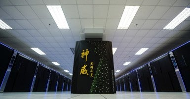 Sunway TaihuLight, a new Chinese supercomputer, in Wuxi, east China's Jiangsu Province. (Photo: Li Xiang Xinhua News Agency/Newscom)