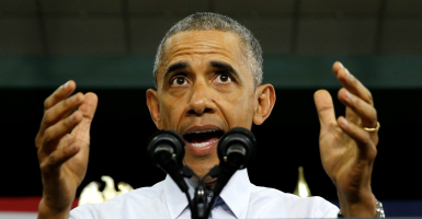 U.S. President Barack Obama speaks about the economy during a visit to Concord Community High School in Elkhart, Indiana on June 1. (Photo: Kevin Lamarque/Reuters/Newscom)
