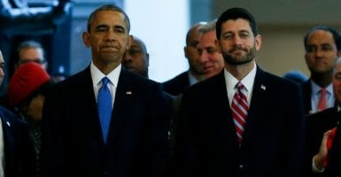 House Speaker Paul Ryan, right, is introducing one of the most anticipated planks of his reform agenda: the repeal and replacement of Obamacare. (Photo: Polaris/Newscom)