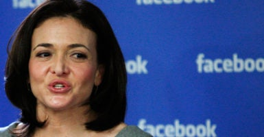 Facebook COO Sheryl Sandberg addressed accusations of anti-conservative bias at Facebook during a visit to the American Enterprise Institute on Wednesday. (Photo: Eduardo Munoz/Reuters/Newscom)