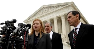 Abigail Fisher, the plaintiff in Fisher v. Texas. (Photo: Kevin LaMarque/Reuters/Newscom)