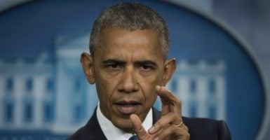 President Barack Obama reacts to the Supreme Court's 4-4 decision that effectively upheld an appeals court ruling to block his executive actions to shield about 5 million illegal immigrants from deportation. (Photo: UPI/Newscom)