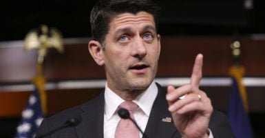 Speaker Paul Ryan, R-Wis., is under pressure from conservatives to counter Democrat demands on gun control. (Photo: Oliver Contreras/Zuma Press/Newscom)