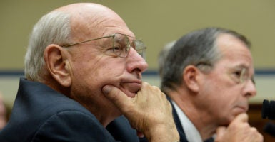 Thomas Pickering, former ambassador to Israel and the United Nations, was on Boeing's payroll while he was pushing the Iran nuclear deal. Experts believe Pickering should have revealed those ties to the public, since Boeing had a financial interest in the historic agreement. (Photo: Michael Reynolds/EPA/Newscom)
