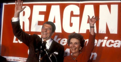 Liberals leap to put down Ronald Reagan even when they are writing about someone else. (Photo: Rick Friedman /Polaris/Newscom)