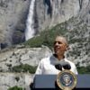 President Barack Obama speaks at Yosemite National Park in California. The administration says visitors to national parks may use whichever public restroom fits their gender identity. (Photo: Joshua Roberts/Reuters/Newscom)