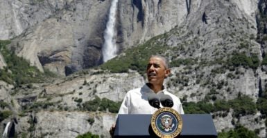 President Barack Obama speaks at Yosemite National Park in California on June 22, 2016. The administration says visitors to national parks may use whichever public restroom fits their gender identity. (Photo: Joshua Roberts/Reuters/Newscom)