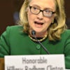 Former Secretary of State Hillary Rodham Clinton answers questions about the Benghazi attacks before the Senate Foreign Relations Committee on Jan. 23, 2013. (Photo: Ron Sachs/CNP via Zuma Wire/Newscom))
