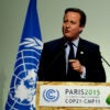 British Prime Minister David Cameron delivers his speech on the opening day of the U.N. climate conference on Nov. 30, 2015. (Photo: Mehdi Chebil/Polaris/Newscom)