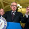Sen. Harry Reid, D-Nev. gives a press conference on June 21. (Photo: Tom Williams/CQ Roll Call/Newscom)
