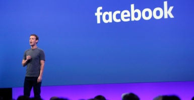 "Facebook founder and CEO Mark Zuckerberg says the company is committed to being ""a platform for all ideas."" (Photo: Karl Mondon/TNS/Newscom)"