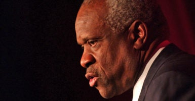 "Clarence Thomas grew up in Pin Point, Georgia, during the height of Jim Crow-era racism. The son of a single mother, Thomas was raised by his grandfather, who he remembers as ""the greatest man I have ever known."" (Photo: Sharkpixs/Zuma Press/Newscom)"