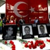 Airport employees attend a ceremony for those who were killed in the terror attack at Ataturk airport in Istanbul, Turkey. (Photo: Murad Sezer/Reuters/Newscom)