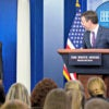 """I have to admit that I can't speak to the bathroom policy of the federal government,"" says White House press secretary Josh Earnest, here with President Barack Obama on May 3 in the White House briefing room. (Photo: Amanda Lucidon /ZumaPress/Newscom)"
