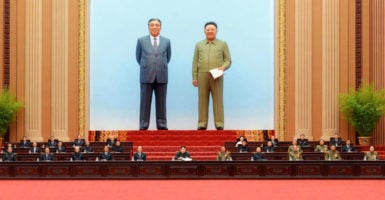 North Korea's leaders  attend the Supreme People's Assembly on June 29. (Photo: Kyodo/Newscom)