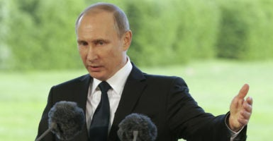 Russian President Vladimir Putin, pictured here from July 1 in Finland, will be at the top of the agenda at the NATO Summit. (Photo: Metzel Mikhali/Zuma Press/Newscom)