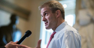 """""""We want to spend more time on legislation that will restore and protect your freedoms,"""" Rep. Jim Jordan, R-Ohio, says. (Photo: Tom Williams/CQ Roll Call/Newscom)"""