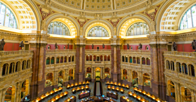 The Great Hall of the Thomas Jefferson Building of the Library of Congress. Carla Hayden will be the first woman and the first black to serve as librarian of Congress. (Photo: Gavin Hellier/robertharding/Newscom)