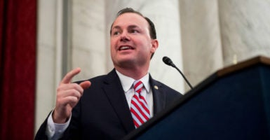 """The American labor force, one of our economy's core building blocks, faces a lot of significant and, I believe, structural challenges today,"" Sen. Mike Lee says. (Photo: Bill Clark /CQ Roll Call/Newscom)"