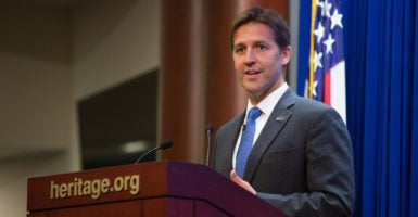 Sen. Ben Sasse, R-Neb., teamed up with Sen. Mike Lee, R-Utah, aimed at addressing occupational licensing in the District of Columbia. (Photo: Willis Bretz/The Heritage Foundation)