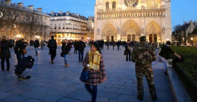 As part of Operation Sentinelle, 10,000 French troops are deployed to patrol the streets—including 6,500 in Paris alone. (Photo: Nolan Peterson/The Daily Signal)